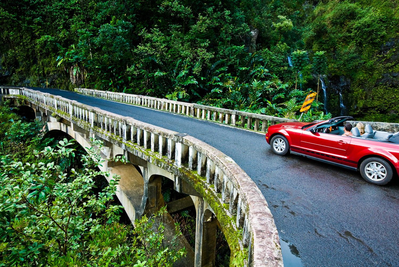 Scenic drive to Hana, Hawai'i.