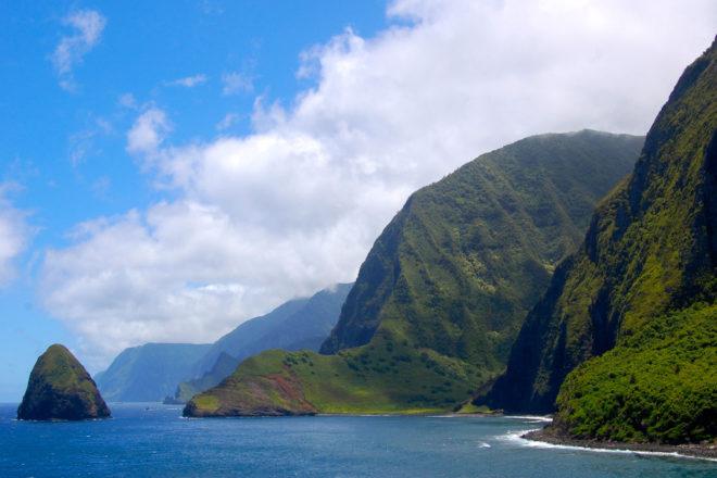 Moloka'i island near Maui, Hawai'i.
