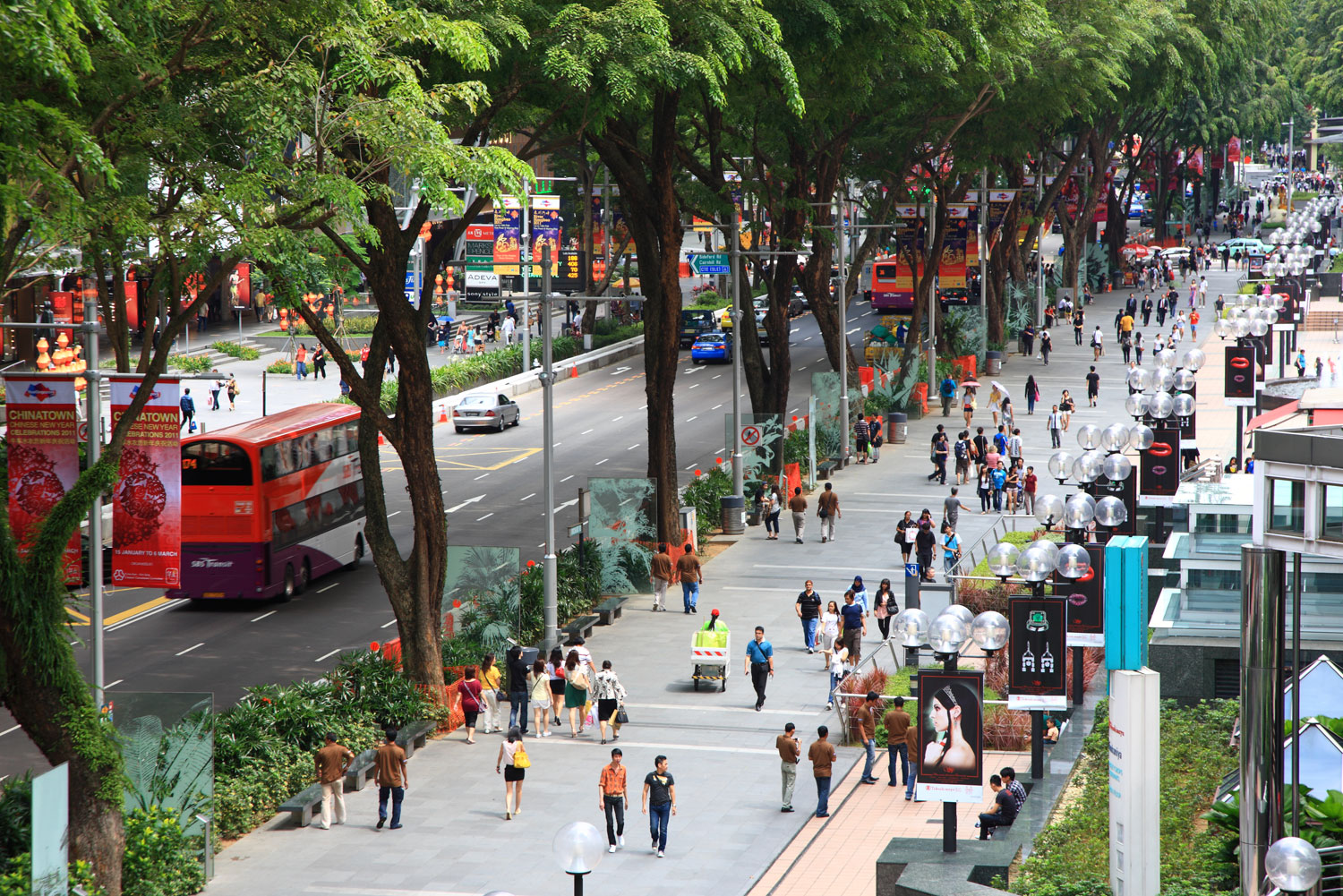 Orchard Road shopping strip, Singapore.