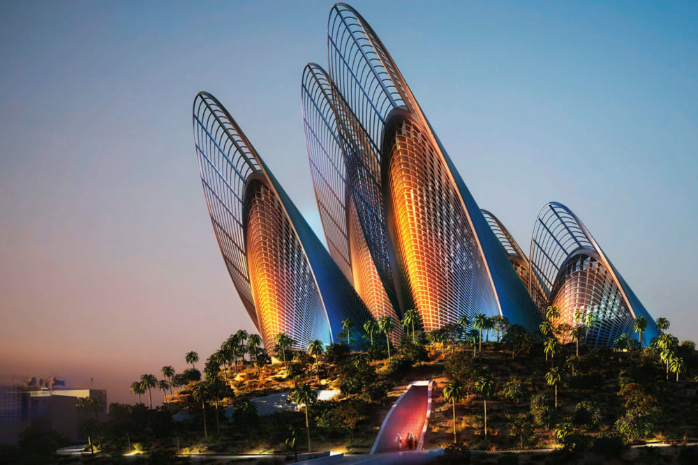 Zayed National Museum on Saadiyat Island, Abu Dhabi.