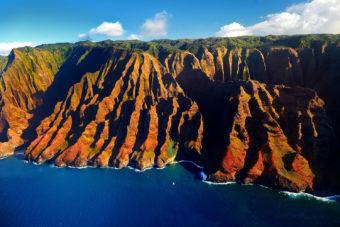 Nā Pali Coast on Kaua'i, Hawai'i.