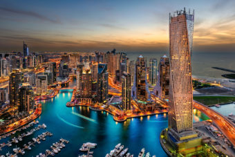 Dubai in the United Arab Emirates.