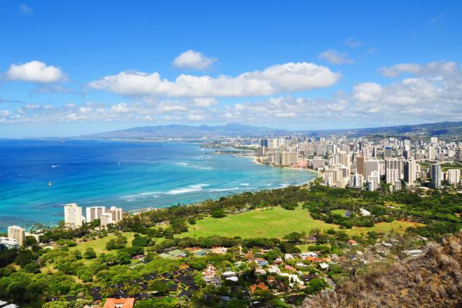 Honolulu in Hawai'i, USA.