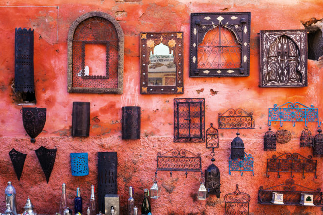 Marrakech in Morocco.