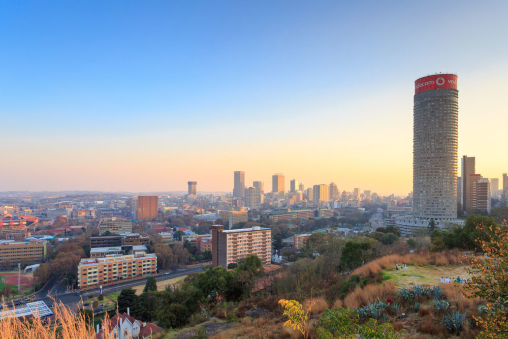 Johannesburg in South Africa.