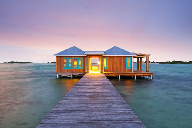 Over-water bungalow by Airbnb in Cayo Espanto, Belize