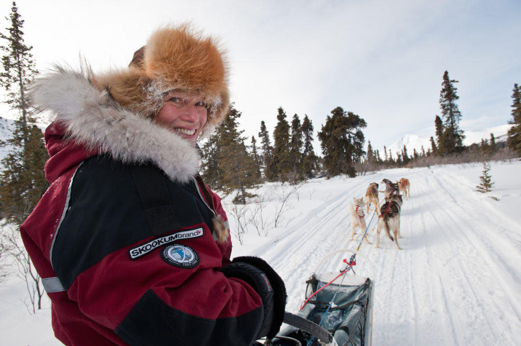 Dog sledding with a smile