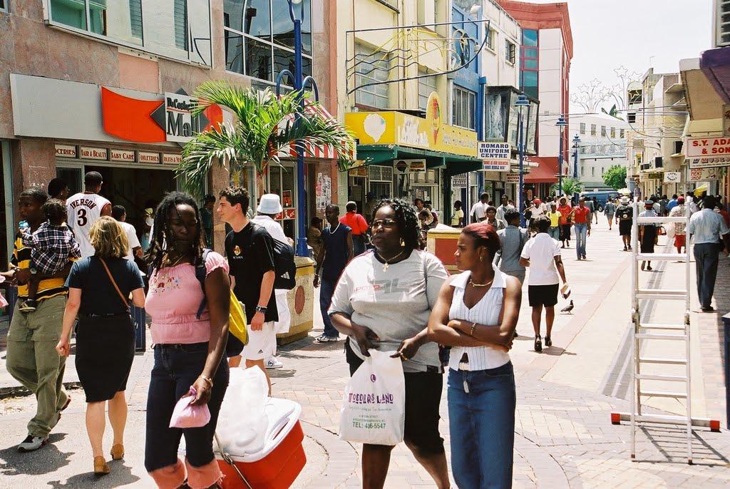 The capital city of Barbados, Bridgetown.