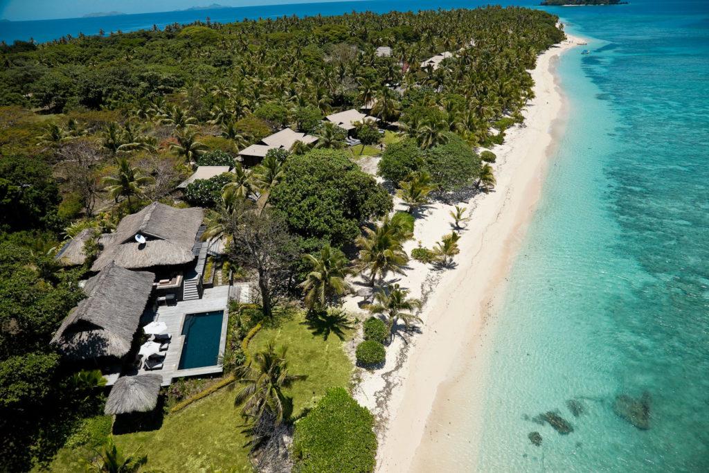 The thatched Royal Villa at Vomo Island Resort.