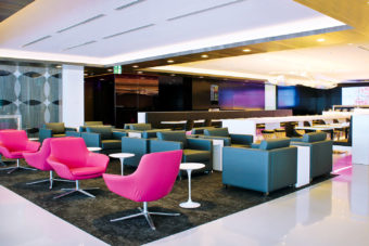 Air NZ airport lounge in Auckland.