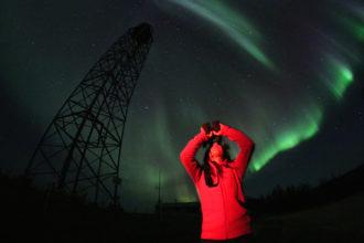 Canada's stunning Aurora Borealis lights.