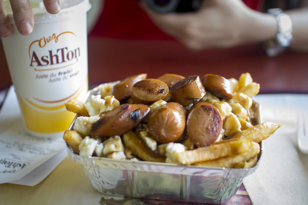 Poutine with sausage