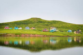 Les Îles de la Madeleine in the Magdalen Islands, Canada.