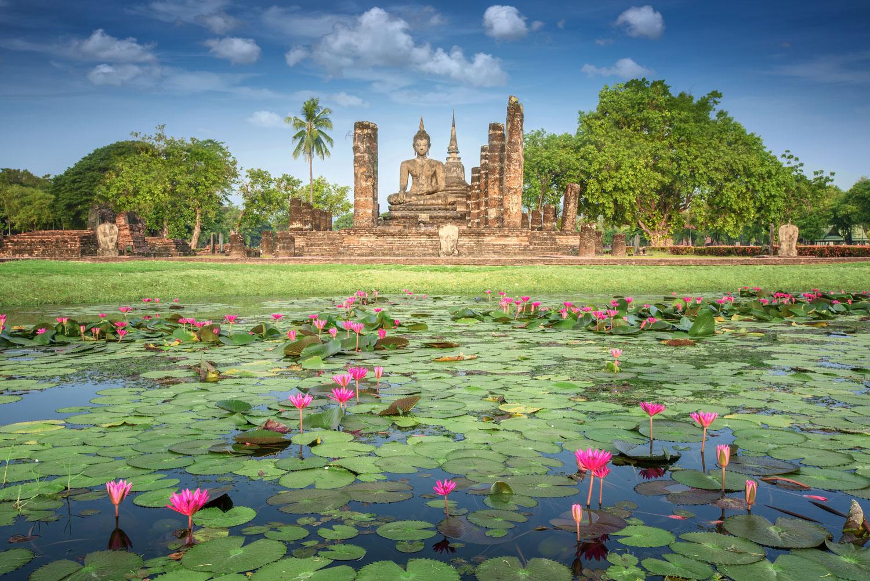 Sukhothai Historical Park in Thailand.