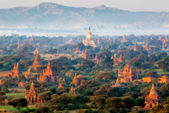 The ancient city of Bagan in Myanmar.