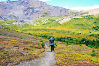 Skyline Trail in Jasper National Park, Canada.