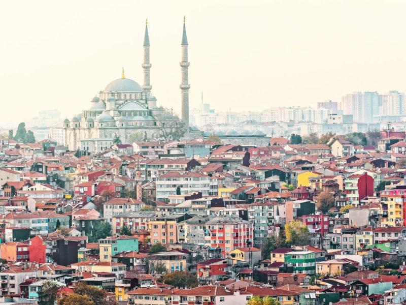 The mighty Faith Mosque.