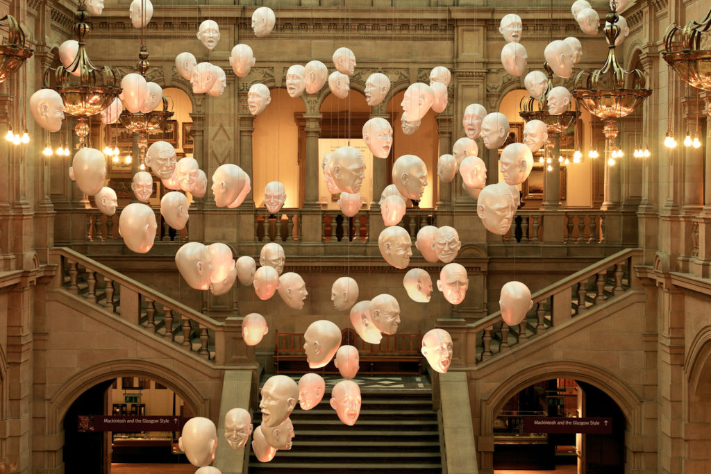 The Heads, a display at Kelvingrove Art Gallery and Museum.