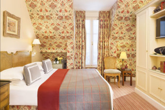 Inside the four-person suite at Le Relais Madeleine