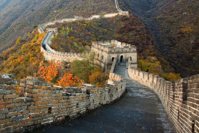 A must see: the Great Wall of China.