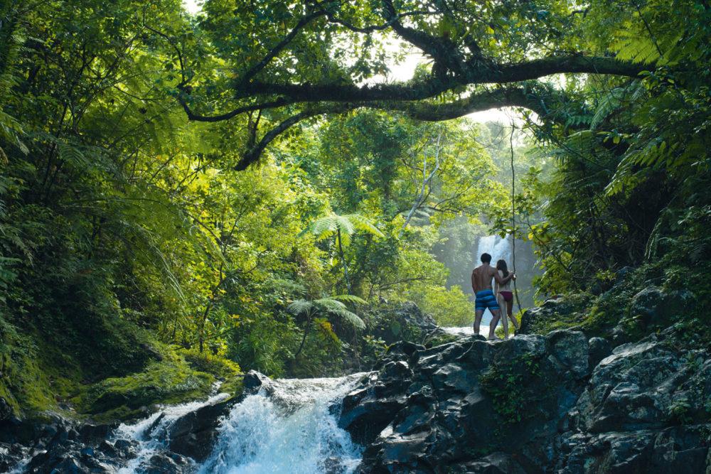 Fiji streams and waterfalls.