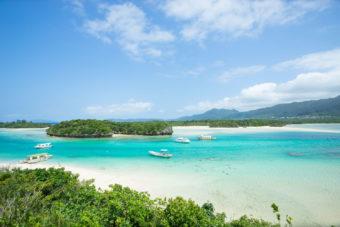 Kabira Bay in Okinawa, Japan.