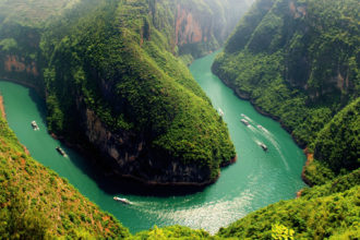 The mighty Yangtze River in China