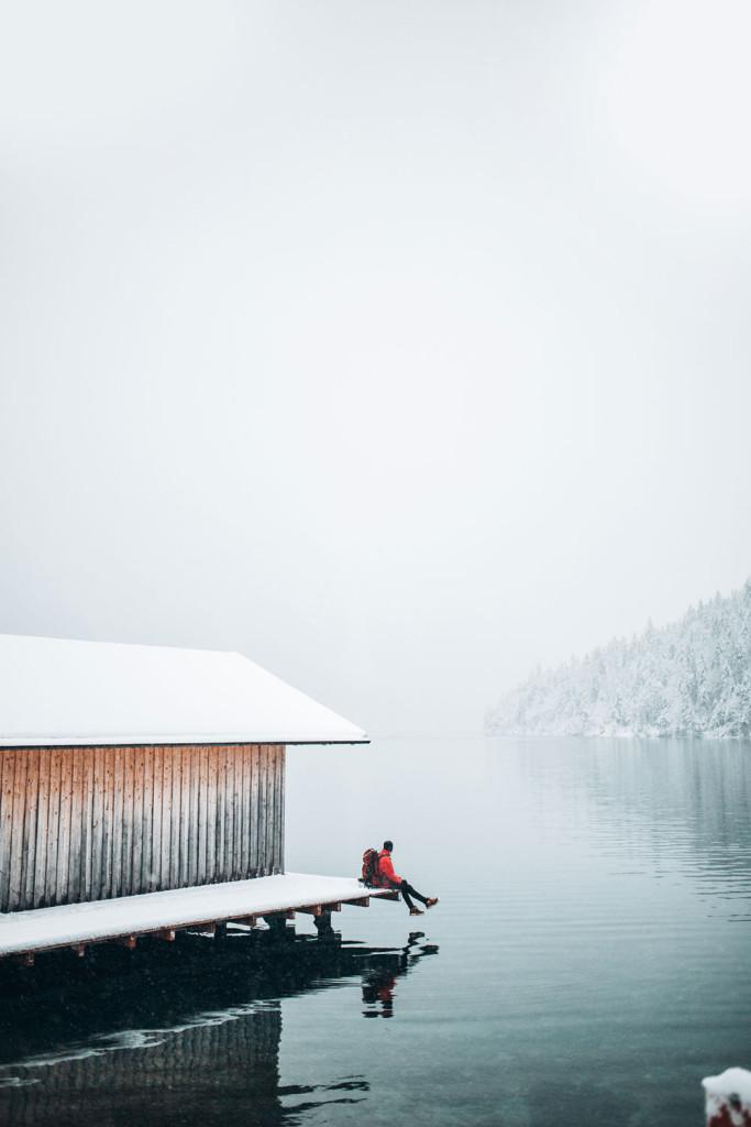 Plansee Lake in Reutte, Tirol, Austria.