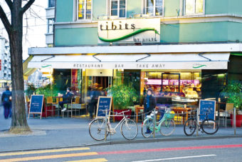 Locals at Tidbits restaurant in Zurich, Switzerland.
