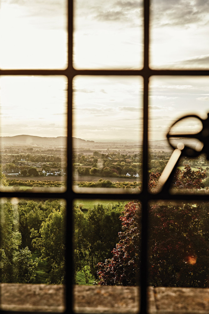 Looking out overthe Cotswolds, England.