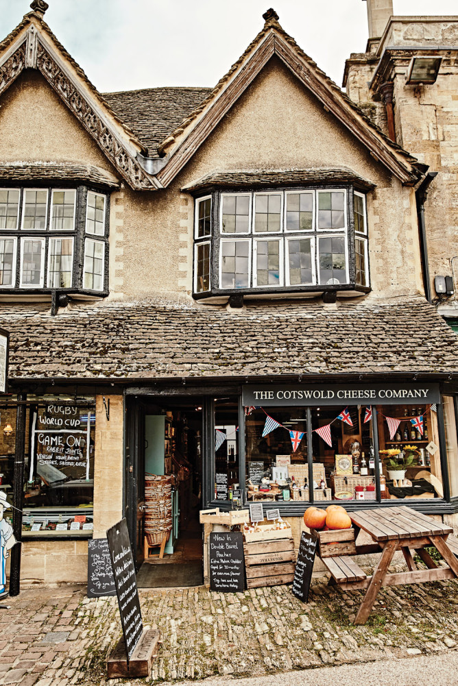 The Cotswold Cheese Company in Burford, England.
