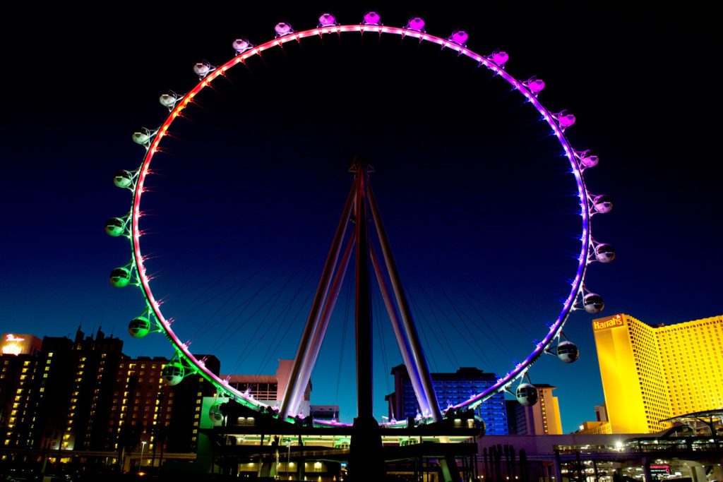 The High Roller in Las Vegas, USA.