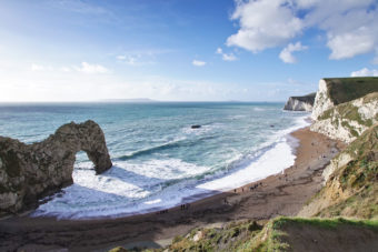 Durdle Door in Dorset, England.