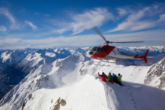 Heli skiing with Haka Heli Tours, New Zealand.