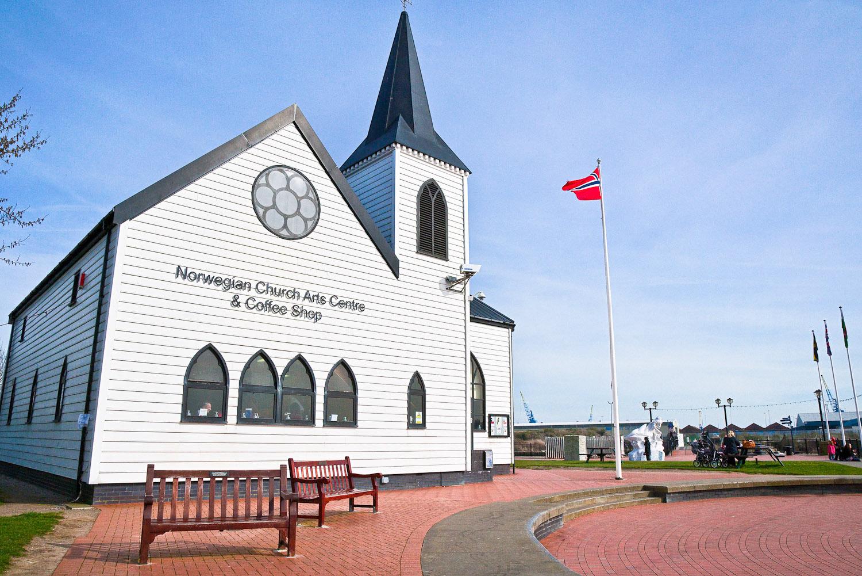 Cardiff's quaint Norwegian Church Arts Centre.