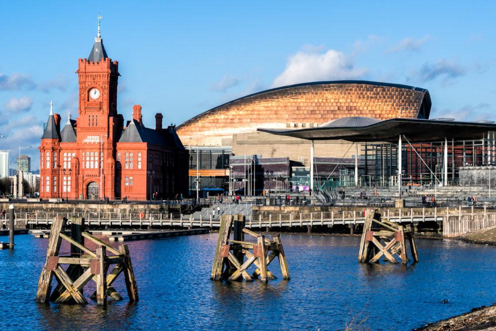 Cardiff's beautifulMermaid Quay.