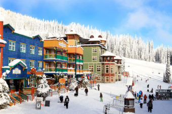 SilverStar's colourful Gold Rush-themed village.