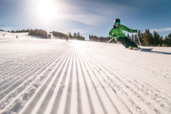 Panorama's groomed runs are ideal for first-time skiers.