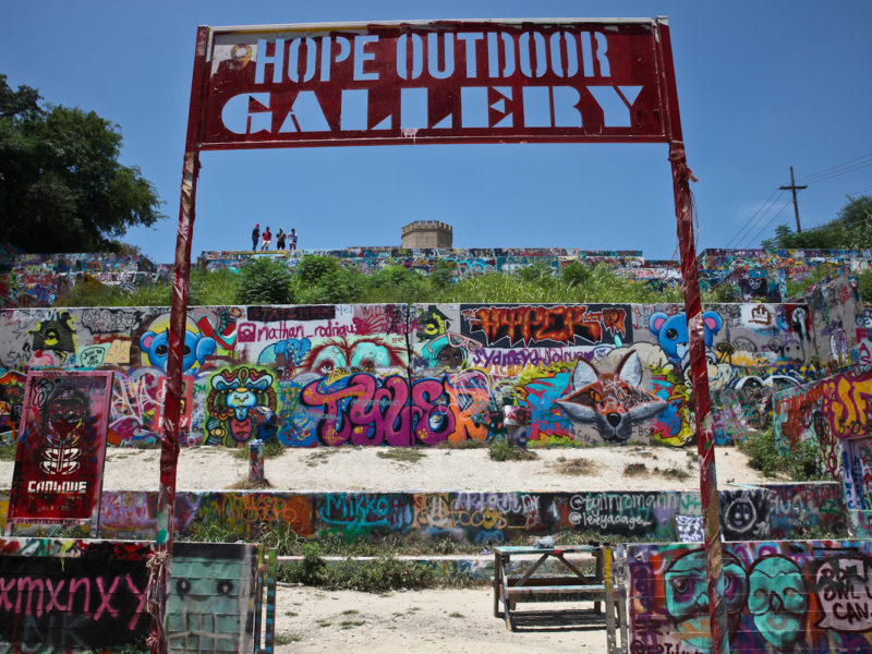 Hope Outdoor Gallery in Austin, Texas, USA.