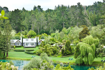 Alan Pye Cottage at Huka Lodge, New Zealand.