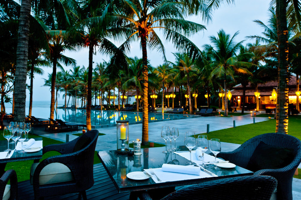 The Beach Restaurant at The Nam Hai, Vietnam.