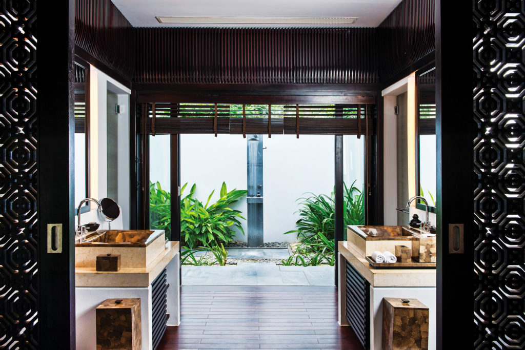 Guest villa at The Nam Hai hotel in Hoi An, Vietnam.