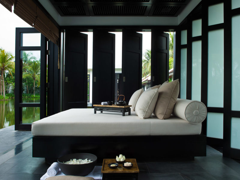 The spa, fitness and relaxation pavilion at The Nam Hai resort in Hoi An, Vietnam