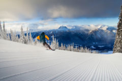 Revelstoke runs are groomed for speed.