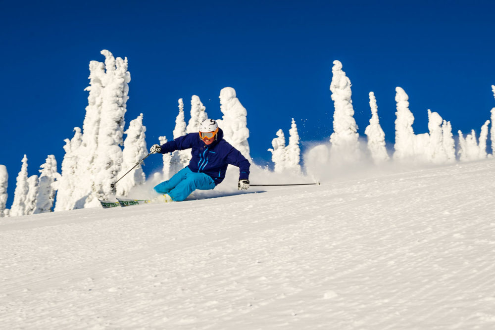 Skiing the Snow Ghosts at Big White.