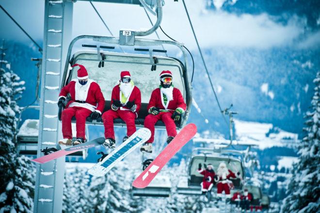 Ski with Santa in Whistler