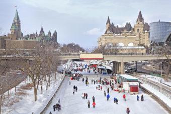 Ottawa's Rideau Canal in winter.