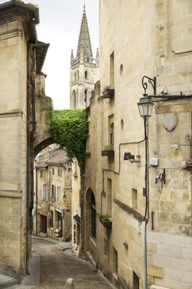 Medieval architecture of Bordeaux, France.