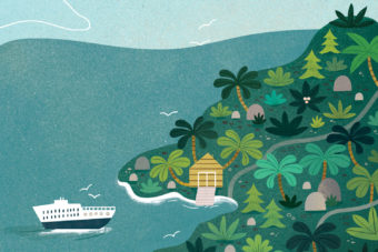 Pitcairn Island, only accessible by boat.