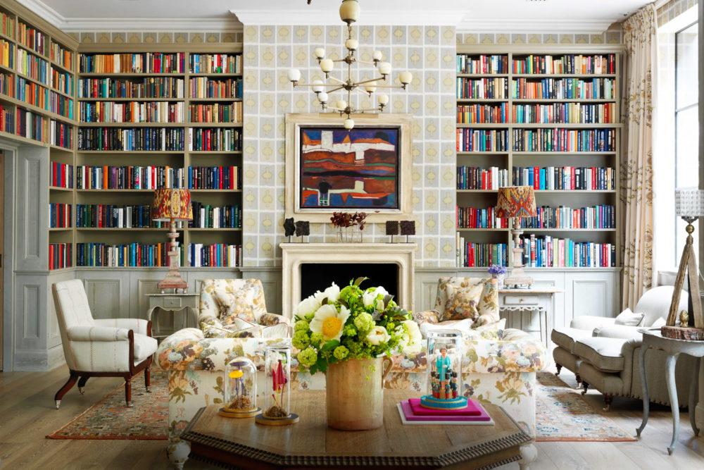 Ham Yard Hotel's library, London.